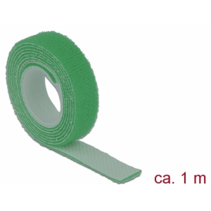 Takjapael 13mm x 1.0m HOOK and LOOP, roheline