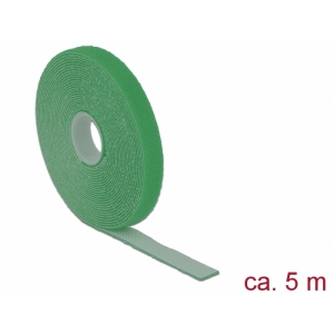 Takjapael 13mm x 5.0m HOOK and LOOP, roheline