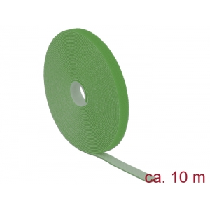 Takjapael 13mm x 10.0m HOOK and LOOP, roheline