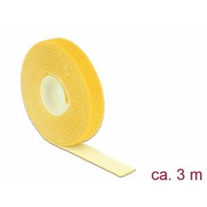 Takjapael 13mm x 3.0m HOOK and LOOP, kollane