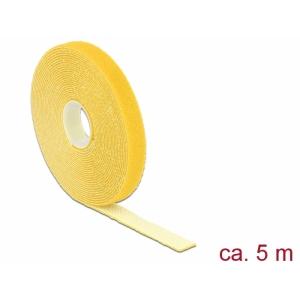 Takjapael 13mm x 5.0m HOOK and LOOP, kollane