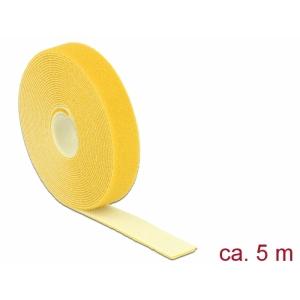 Takjapael 20mm x 5.0m HOOK and LOOP, kollane