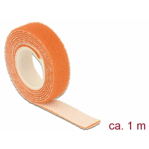 Takjapael 13mm x 1.0m HOOK and LOOP, oranž