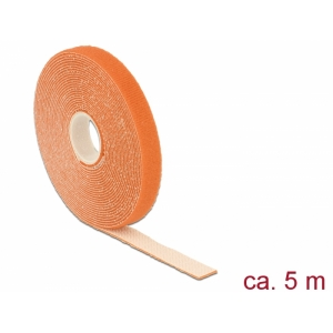 Takjapael 13mm x 5.0m HOOK and LOOP, oranž