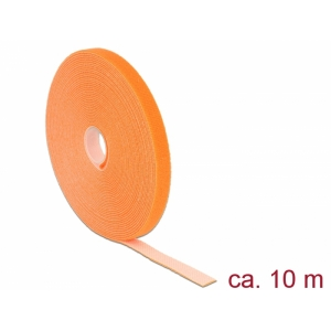 Takjapael 13mm x 10.0m HOOK and LOOP, oranž