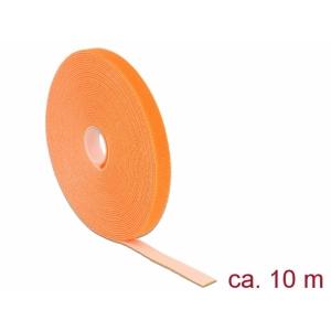Takjapael 13mm x 10.0m HOOK and LOOP, oranž