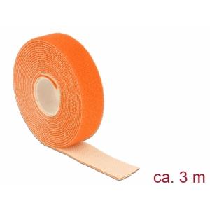 Takjapael 20mm x 3.0m HOOK and LOOP, oranž