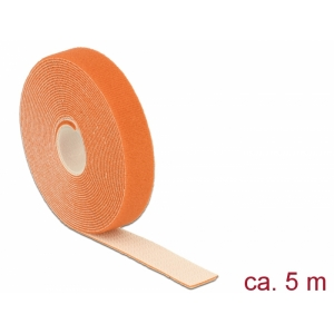 Takjapael 20mm x 5.0m HOOK and LOOP, oranž
