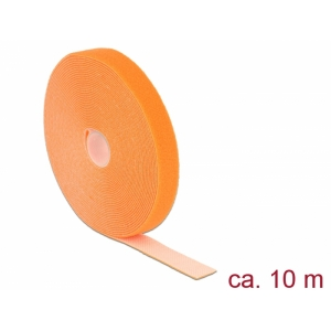Takjapael 20mm x 10.0m HOOK and LOOP, oranž