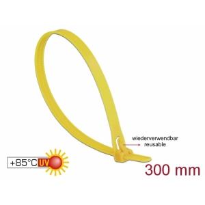 Kaablisidemed 300×7,6mm kollased, kuumuskindlad kuni 85°, 94V-2, taaskasutatavad (100tk)