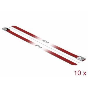 Kaablisidemed 300x7,9mm, terasest, punased (10tk)