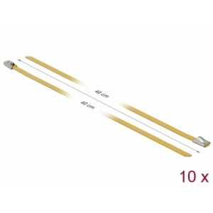 Kaablisidemed 400x4,6mm, terasest, kollased (10tk)