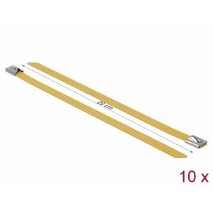 Kaablisidemed 200x7,9mm, terasest, kollased (10tk)