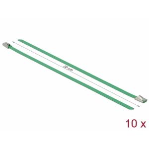 Kaablisidemed 200x4,6mm, terasest, rohelised (10tk)