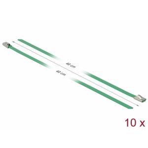 Kaablisidemed 400x4,6mm, terasest, rohelised (10tk)