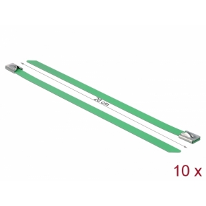 Kaablisidemed 200x7,9mm, terasest, rohelised (10tk)