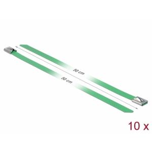 Kaablisidemed 500x7,9mm, terasest, rohelised (10tk)