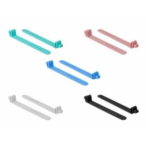 Kaablisidemed 80.0x11.0x1.5mm värvilised, taaskasutatavad (10tk), silikonist, nelja auguga