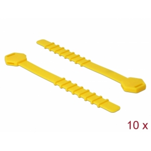 Kaablisidemed 120.0x9.0x1.5mm kollased, taaskasutatavad (10tk), silikonist