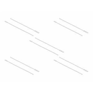 Kaablisidemed 400×6,5mm valge, kuumuskindlad kuni 85°, 94V-2, taaskasutatavad (10tk)