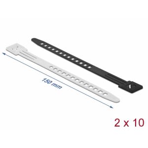 Kaablisidemed 150 x 9mm, valge/must, taaskasutatavad (20tk)