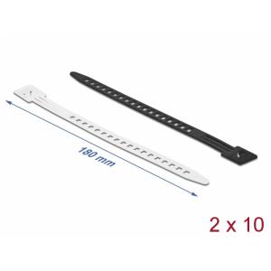 Kaablisidemed 180 x 9mm, valge/must, taaskasutatavad (20tk)