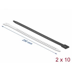 Kaablisidemed 250 x 9mm, valge/must, taaskasutatavad (20tk)