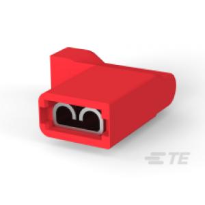 4,8x0,8mm flag-pesa 0,3...0,9mm² juhtmele punane