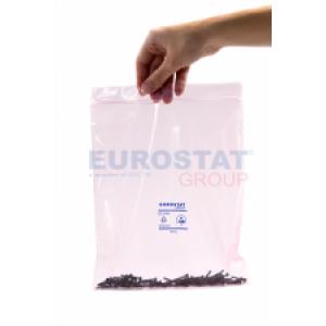 Antistaatiline roosa minigrip kilekott 90µ 305x406mm/100