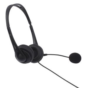 Juhtmega mikrofoniga kõrvaklapid, 2x3.5mm pistik