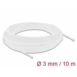 Kaablirüüs 3mm (1-6mm) valge, 10.0m polüester, sukk