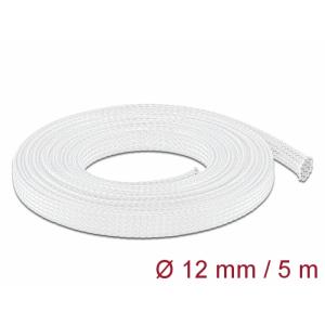 Kaablirüüs 12mm (8-24mm) valge, 5.0m polüester, sukk