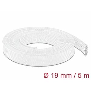 Kaablirüüs 19mm (14-30mm) valge, 5.0m polüester, sukk