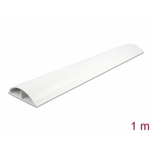 Kaablikaitse põrandale 1.0m, valge, 89x21mm