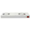 Ventilaatorpaneel rackitav/katusele 19´´ termostaadiga 2 ventilaatorit hall
