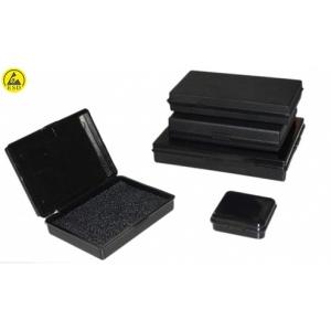 ESD plastist karp trükkplaadile 138x96x35mm + RIGID PE BLACK DISSIPATVIE FOAM
