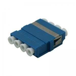 FO adapter singlemode LC quad / SC duplex avasse sinine
