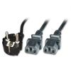 220V Toitekaabel CEE 7/7 (pistik) - 2x IEC C13 pesa 1.9m