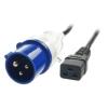 220V Toitekaabel 1.5mm² Commando pistik 16A - IEC C19 pesa 3.0m