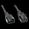 220V Toitekaabli pikendus 5.0m must (monitorikaabel), C13-C14