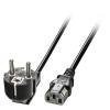 220V Toitekaabel 2.0m, IEC 320 C13 pesa nurgaga, must