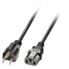 220V Toitekaabel USA 3 pin - IEC C14 2.0m