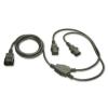 220V Toitekaabel IEC C14(0.5m)pistik - 2xIEC C13 pesa(0.5m) 1.0m