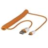 USB 2.0 kaabel A - Micro B 1.6m spiraal, oranž