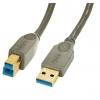 USB 3.0 kaabel A - B 3.0m, antratsiit
