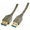 USB 3.0 pikenduskaabel A - A 0.5m, antratsiit