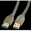 USB 3.0 kaabel A - A 0.5m, antratsiit