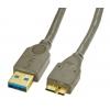 USB 3.0 kaabel A - Micro B 3.0m, antratsiit
