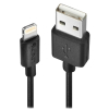 USB 2.0 - Lightning kaabel 0.5m, must