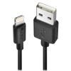 USB 2.0 - Lightning kaabel 1.0m, must